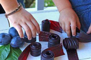 rolled fruit leather